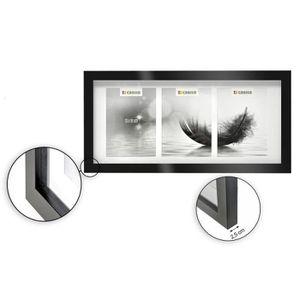PÊLE-MÊLE PHOTO Cadre photo multivues - 3 vues - 13 x 18 cm - Noir