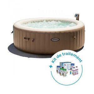 Pack Spa gonflable Intex Pure Spa Bulles 6 personnes + Kit de traitement au  brome HTH c5e3d8633c49