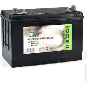 BATTERIE VÉHICULE Batterie plomb ouvert NX Power Deep Cycle 12V 110A