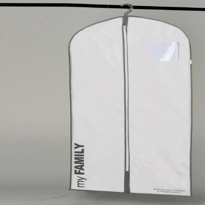 HOUSSE DE RANGEMENT Housse longue WOS blanche 60x137 cm