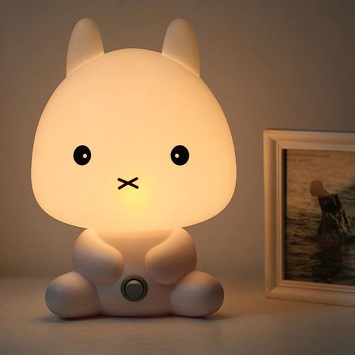 Lampe Chevet En Forme Animal Bande Dessinee Chat Decoration Lumiere
