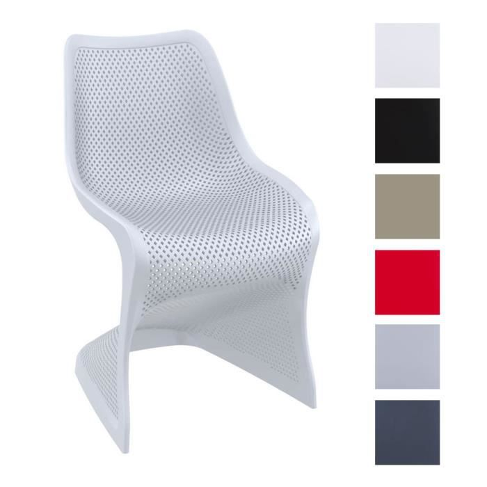 Chaises plastique design excellent chaise design blanche for Chaise design plastique
