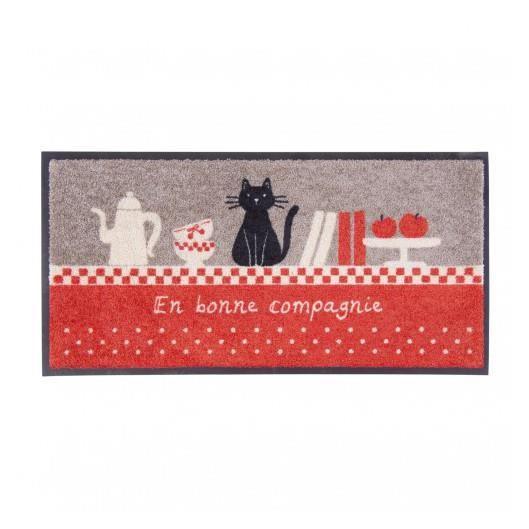 tapis de cuisine rouge et gris compagnie dlp achat With tapis de cuisine rouge et gris