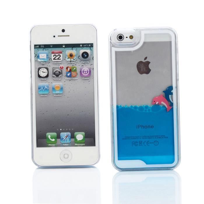 coque iphone 5 liquide dauphin