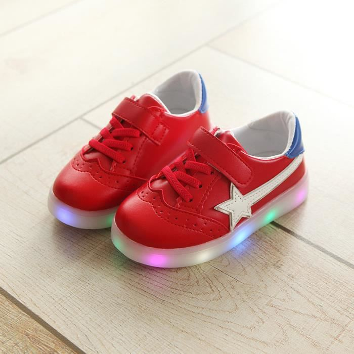 Baskets Enfants chaussures Garçons filles Bébé LED lumières Chaussures de sport mAeyseBB2B