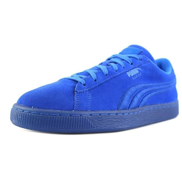 énorme réduction 5848a 563a7 Puma Suede Classic Badge Iced Daim Baskets Bleu - Achat ...