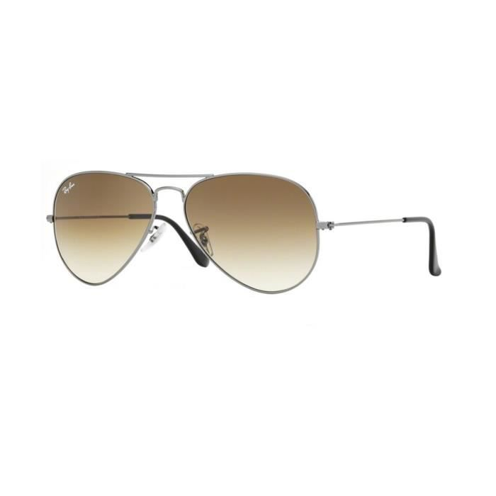 Lunettes de soleil Ray-Ban HommeAVIATOR LARGE METAL RB3025 004/51 Gunmetal 55 x 47,5