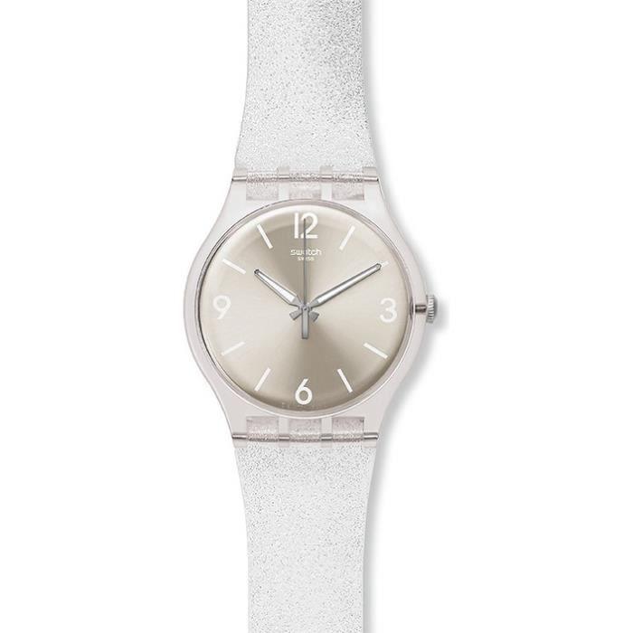 montre femme swatch mirrormellow suok112 bracel achat vente montre cdiscount. Black Bedroom Furniture Sets. Home Design Ideas