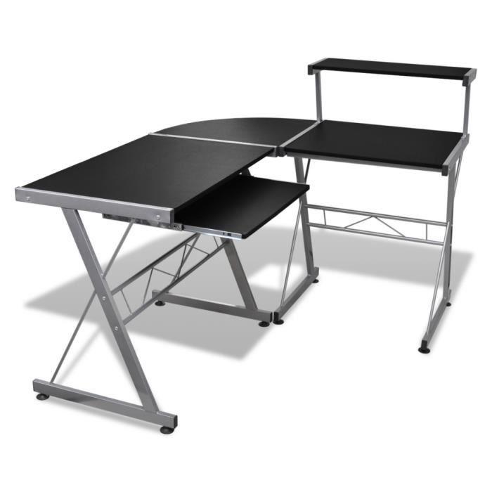 Grande Table De Bureau Noire Pour Ordinateur Achat