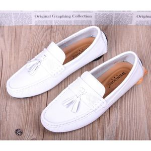 Casual Blanc 2017 Pedal Driving Nouvelle Homme respirant cuir Angleterre en Chaussures Lazy Doug Pro SqpxnqR