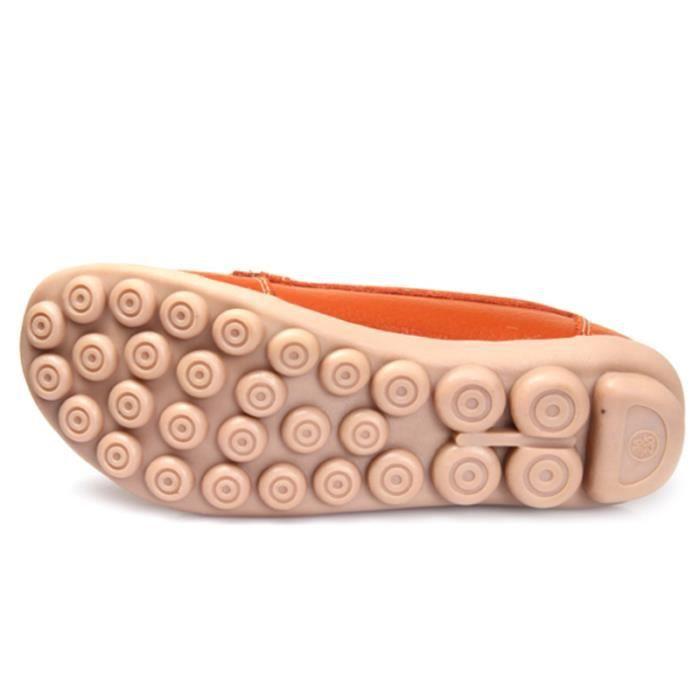 Mocassin Femmes Mode Loafer Detente Classique Chaussures BGD-XZ088Orange39 tLRzXEG6l