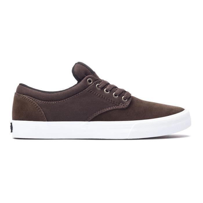 Chaussures SUPRA CHINO Brown white