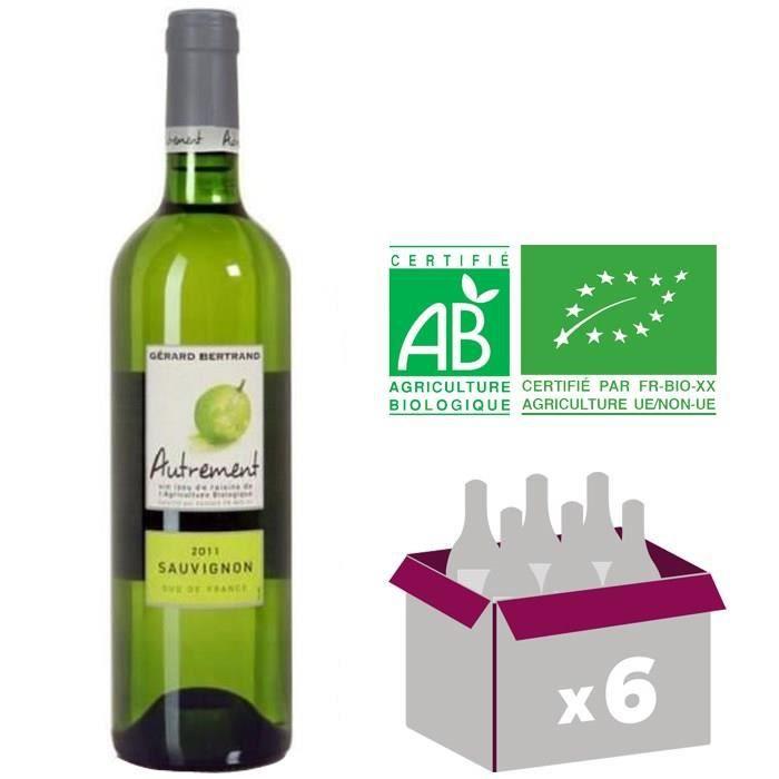 AUTREMENT - 2011 - Sauvignon Raisin Bio - Vin du Sud Ouest - Blanc - 75cl - IGP x6VIN BLANC