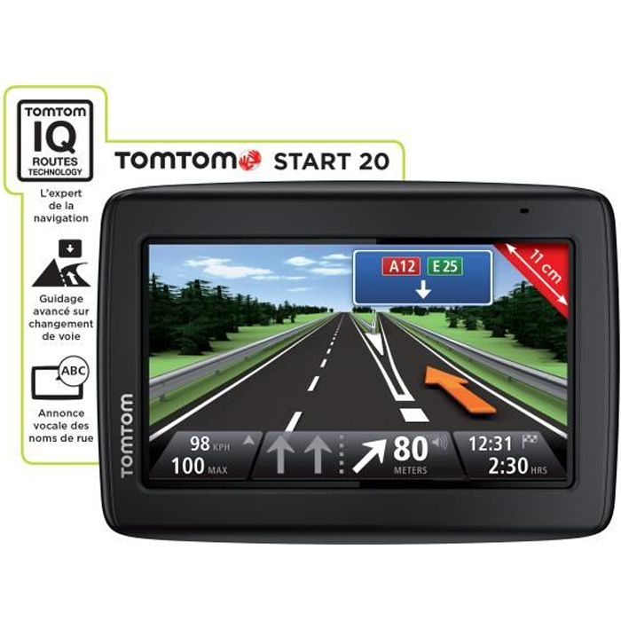 TomTom Start 20 reconditionné, 4,3 pouces Cartographie Europe 49 pays