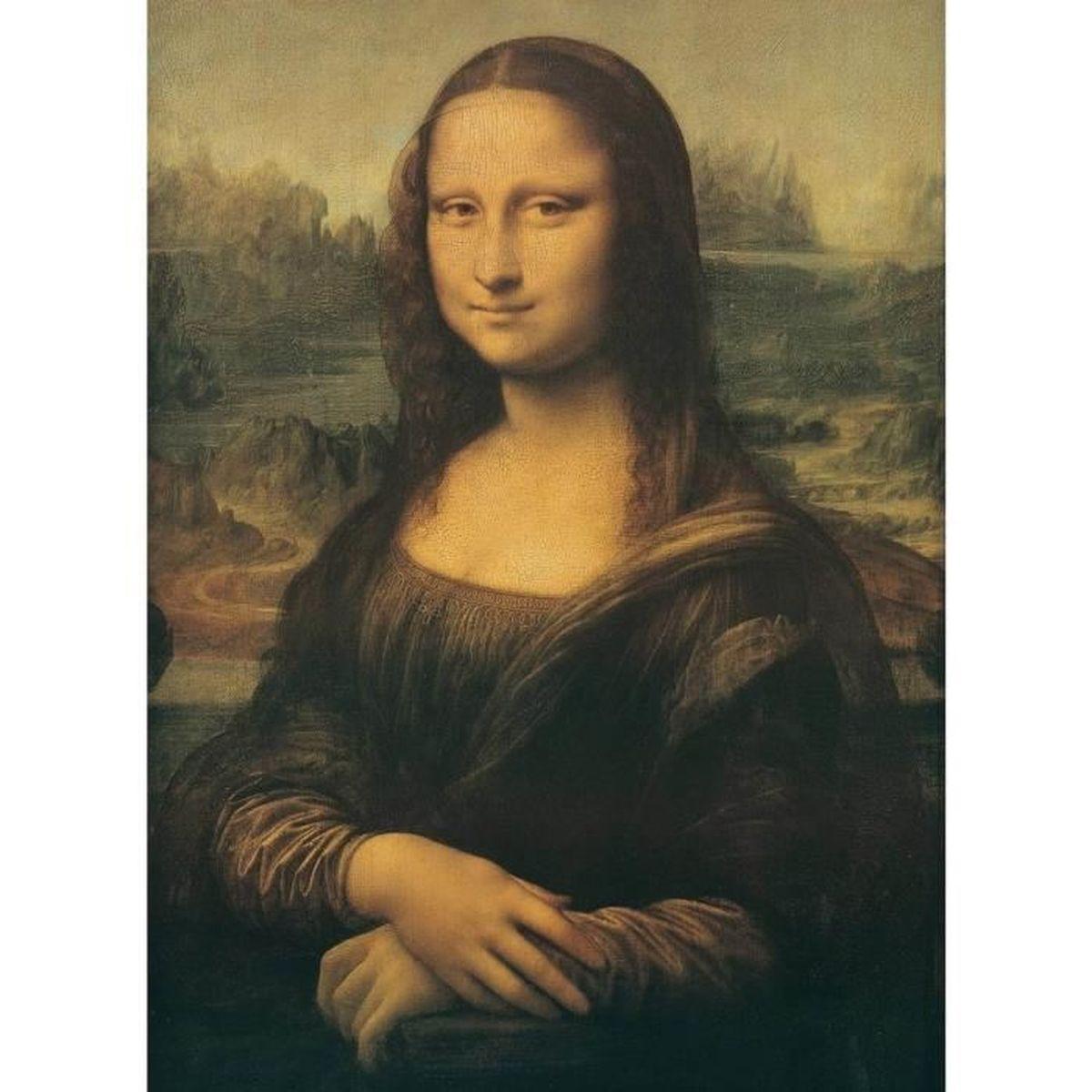 Extrêmement Puzzle 1000 pièces : Léonard de Vinci : La Joconde aille Unique  AW56