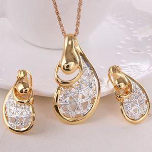 SAUTOIR ET COLLIER Mode femmes ton doré creux collier pendentif boucl