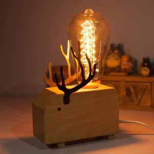 LAMPADAIRE QIANGUANG Moderne Art Décoration En bois Faon l'él