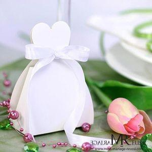 BOÎTE À DRAGÉES 10 Pcs boites dragées blanches costume de mariée,