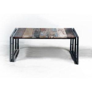 TABLE BASSE Table basse carrée 1 plateau evasion 80 cm x 80 cm
