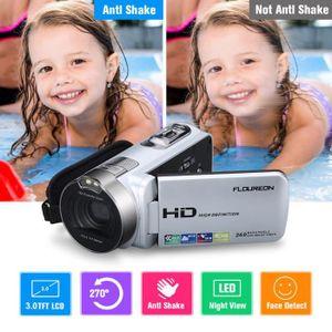 CAMÉSCOPE NUMÉRIQUE Floureon 1080P FULL HD 24MP 16x Zoom Portable Camé