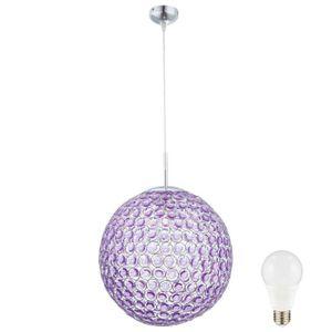 LUSTRE ET SUSPENSION Suspension LED 9,5W boule éclairage lampe ronde cr