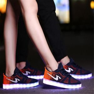 Chaussures Montante Femme Homme Led Usb Rechargeable 7
