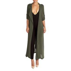 GILET - CARDIGAN Les femmes à manches longues en mousseline de soie 0ef1d84c550c