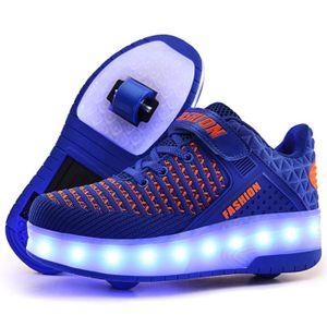 BASKET Mode Baskets Enfants LED lumières Chaussures à Rou