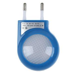 VEILLEUSE Lampe de nuit a capteur LED bleu avec une prise de