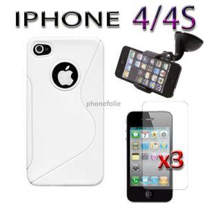 HOUSSE - ÉTUI Lot 5 accessoires Apple Iphone 4 4S 4G