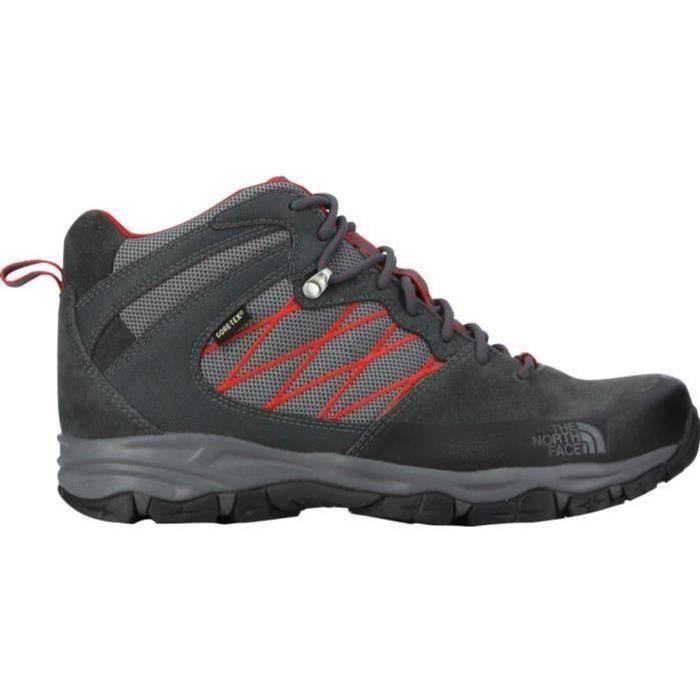 THE NORTH FACE Chaussure de randonnée Tempest mid GTX - Homme - Noir et rouge
