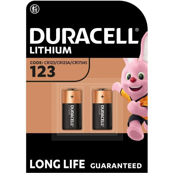 DURACELL Spéciales Piles Ultra Lithium type 123 x2