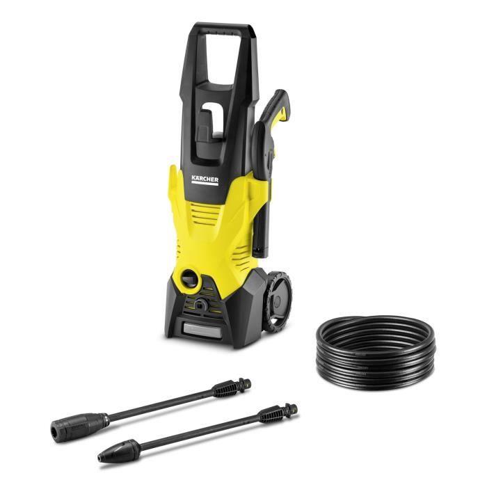 KARCHER Nettoyeur haute pression  K3 - Pression max 120 bar - Débit max 380 L/h - 1600 W - Jaune et