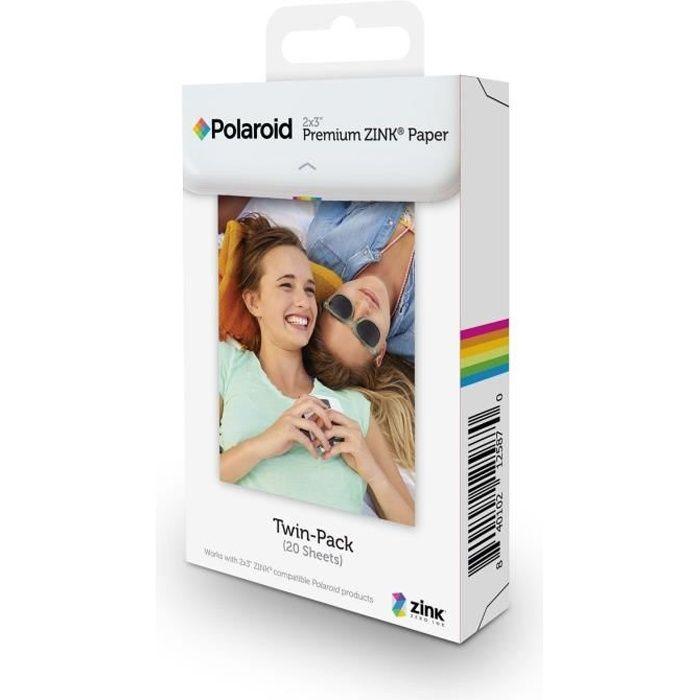 POLAROID Recharge papier pour ZIP / SNAP / Z2300 (x20p) Appareil photo instantané compact