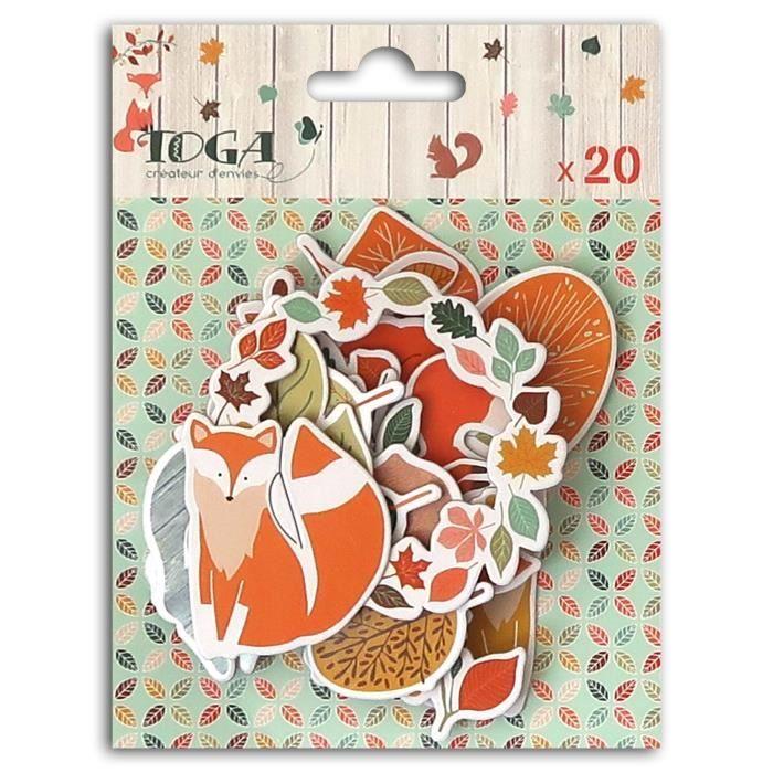 TOGA Lot de 20 Chipboards Miel & Cannelle