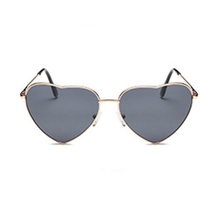 Mode Femme en forme de cœur en métal de style Cadre Lunettes de soleil Eyewear, Rose Et Bleu