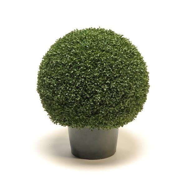 boule de buis artificiel fritz en pot grille plastique 55 cm 45 cm buis d co plante. Black Bedroom Furniture Sets. Home Design Ideas