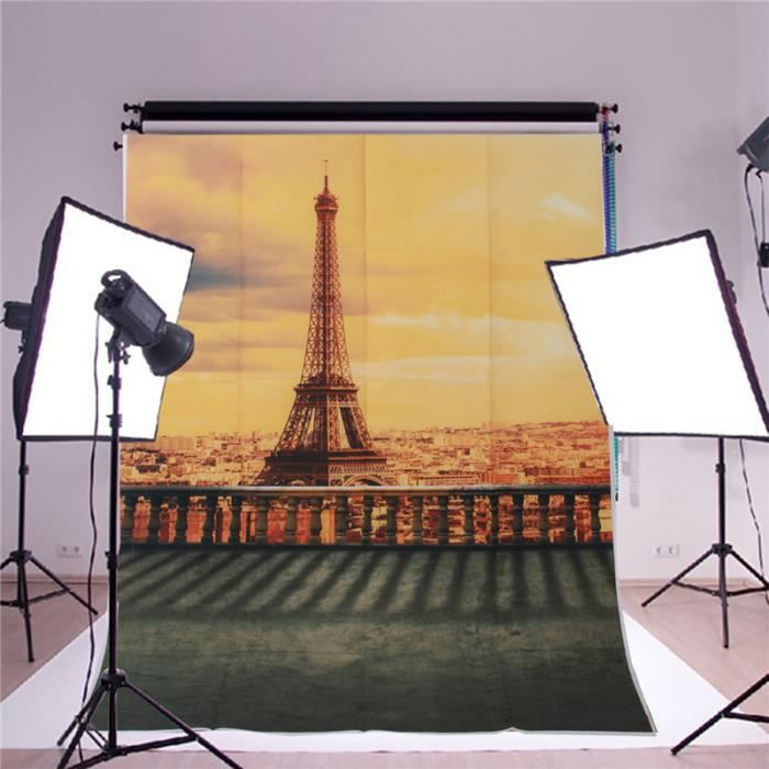 FOND DE STUDIO TEMPSA Toile de Fond Backdrop Tissu 1x1.5m Tour Ei