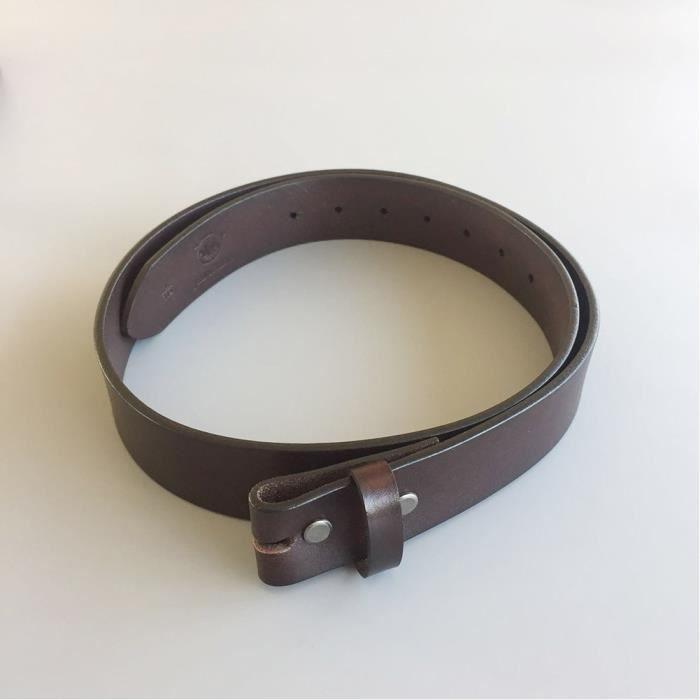 XL 125cm ceinture en cuir véritable brun homme femme pleine fleur ... ac0b7e8b779