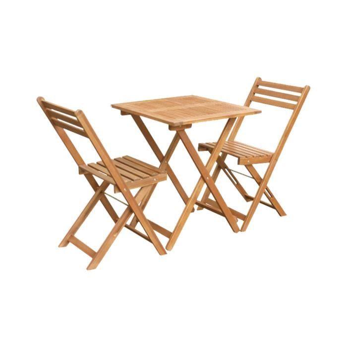 Set de Balcon bois 2 places Rio - Achat / Vente salon de jardin Set ...