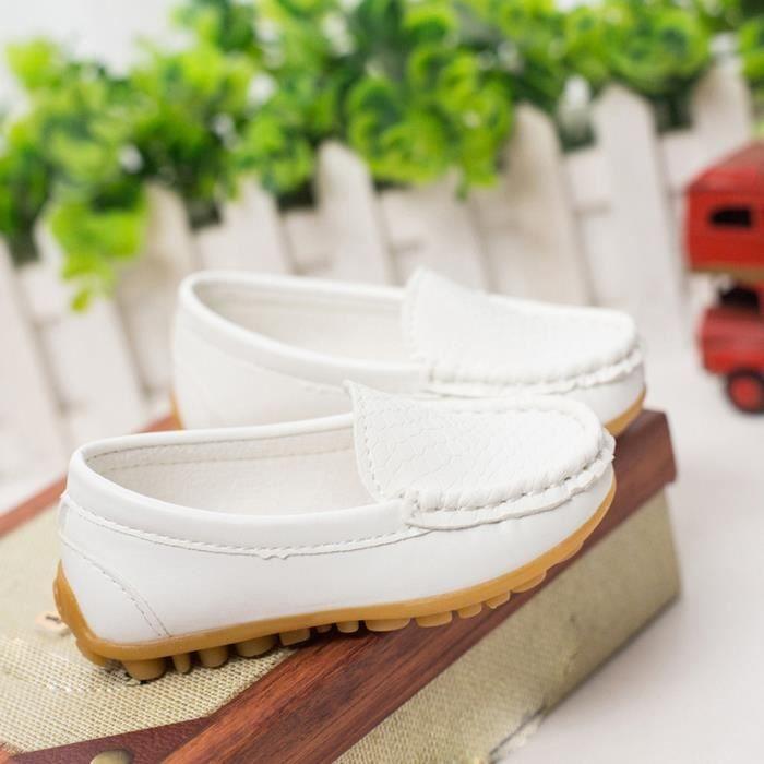 BLANC Sneakers Casual Chaussures XPP2017807 sport garçons Sneakers chaussures bateau Napoulen®Enfants qSU8vxw66