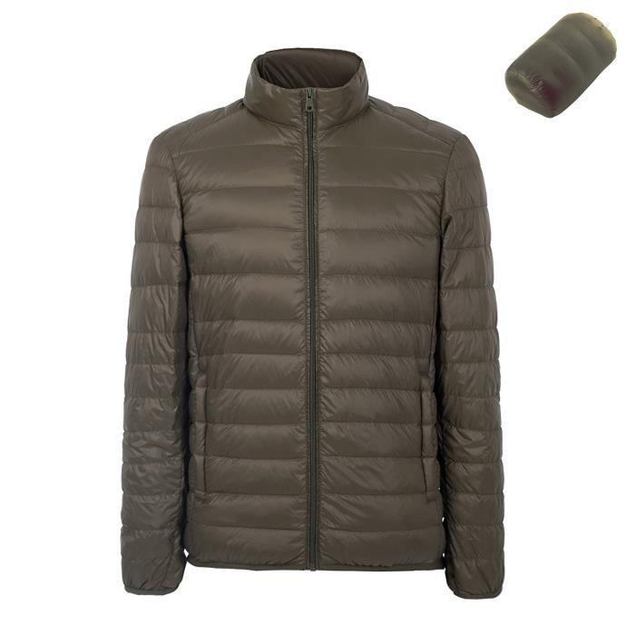 Hommes Vêtement Manches Longues Doudoune Blouson Compressible Ultra Légère  Hiver Down Jacket Vert 021f902e59bf