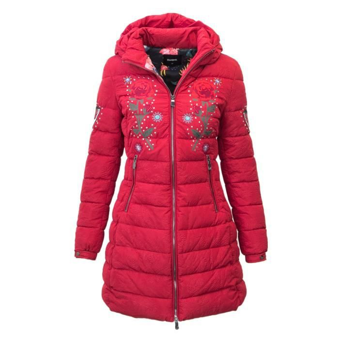 Doudoune 18wwew67red Polyester Femme Desigual Rouge Iq7Fw