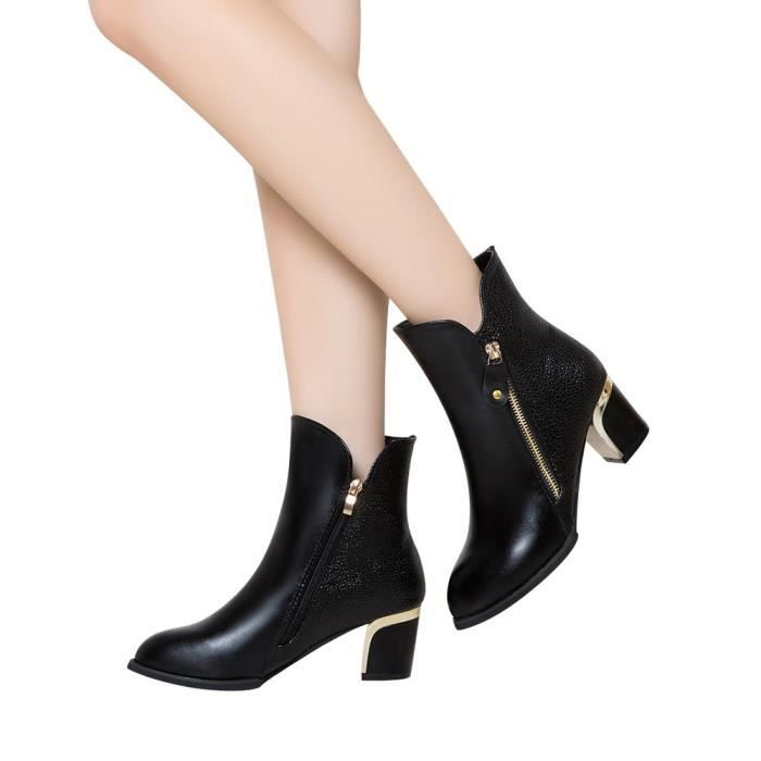 0f0bbe8df61f Nu Mode Talon Angleterre Chaussures confor5521 Pointu Gros Martin Femme  Pompes Bottes 5RwqH