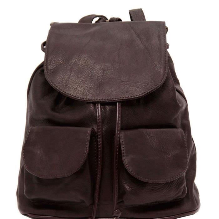 Tuscany Leather - Seoul - Sac à dos en cuir Petit modèle - Marron foncé