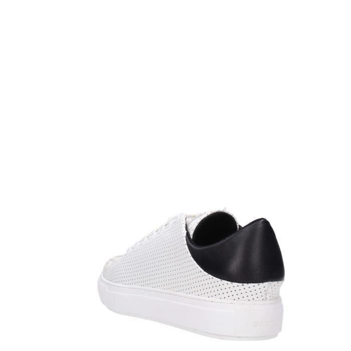 Pinko Sneakers Femme Blanc/noir