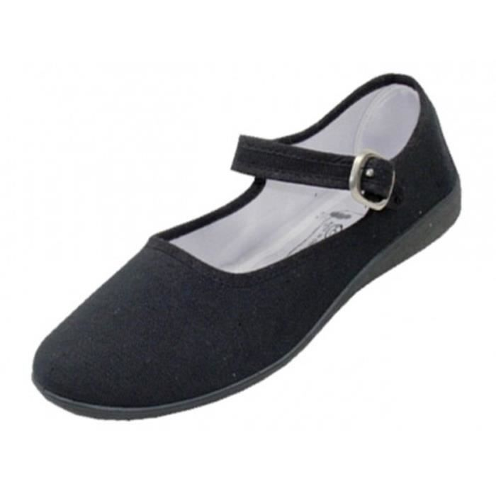 Cotton Mary Jane Ballerines Ballerines Chaussures GBMU3 Taille-42