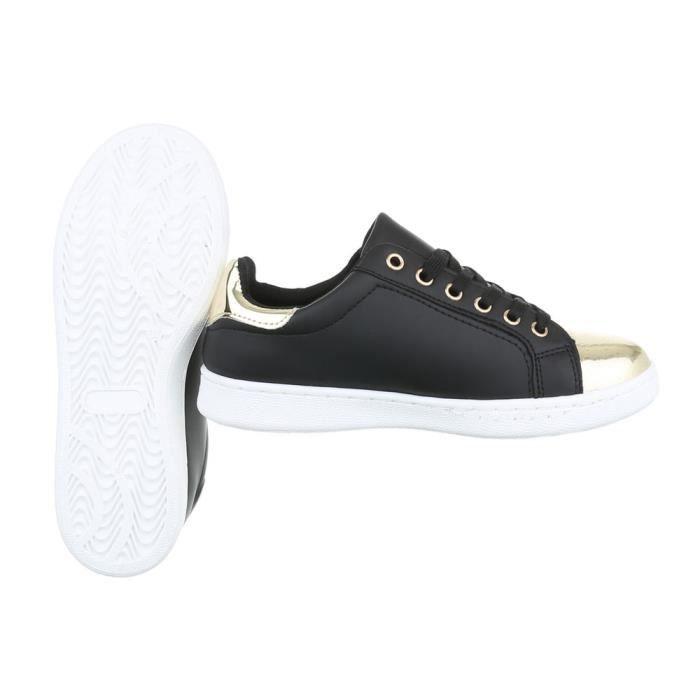Femme chaussures loisirs chaussures Sneaker noir 40 qrLLQxR