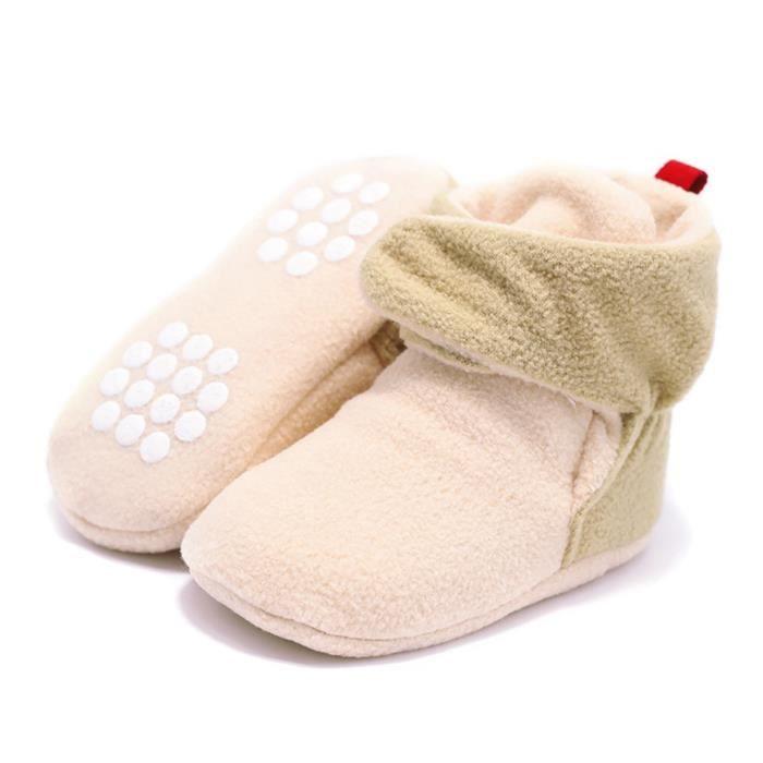 Botte Bébé d'Hiver Dérapage Anti Fille Kaki Shoes Chaud Chaussure Garçon EOZY Souple T1Wqz5Ix