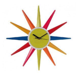 HORLOGE - PENDULE Horloge murale couleurs arc-en-ciel